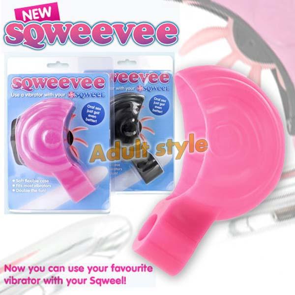 英國SQWEEL-Sqweevee舌輪鋼砲-專用配件+震動棒.